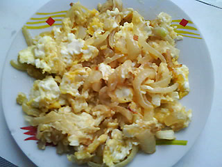 Cebula z jajkami