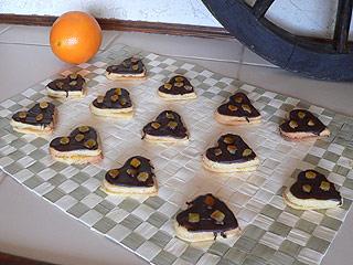Ciasteczka pomarańczowe serduszka