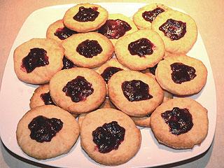 Ciasteczka z marmoladą lub dżemem