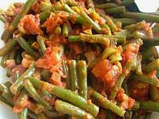 Fasolka szparagowa z pomidorami