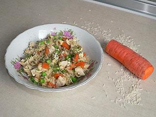 Gulasz z kurczaka z ryżem