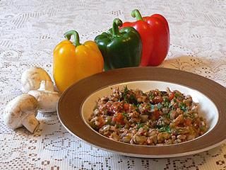 Gulasz z mięsa mielonego z warzywami