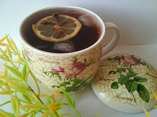 Herbata malinowa z lodem