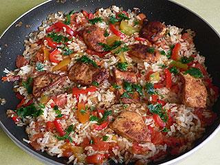 Kurczak z ryżem z patelni
