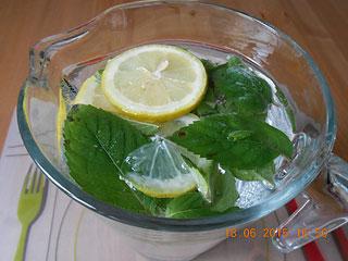 Lemoniada z miętą i cytryną