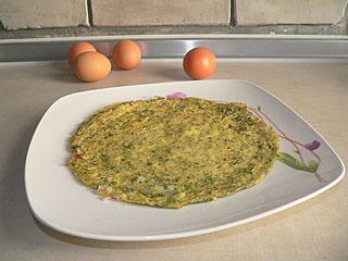 Omlet ziołowy z porem