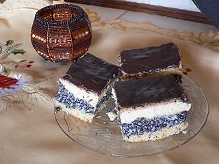 Placek kokosowo - makowy