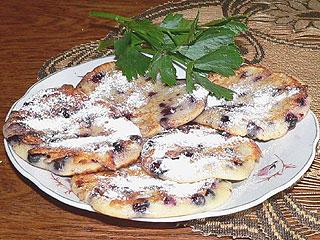 Placuszki kefirowe z jagodami