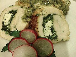 Roladki z kurczaka z serem feta i szpinakiem