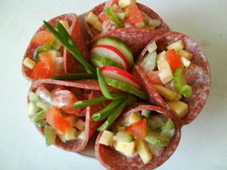 Rożki z salami