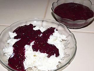 Ryż malta z jagodami