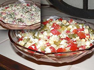 Sałatka z papryką konserwową