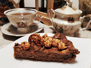 Słodko-słony deser czekoladowy