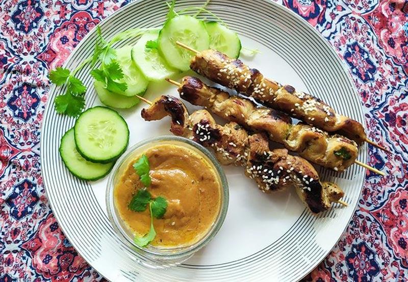 Szaszłyki z kurczaka z sosem Satay