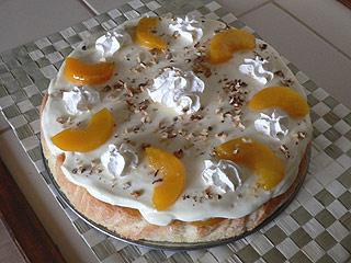 Tort lodowo-brzoskwiniowy