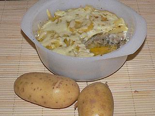 Zapiekanka z ziemniakami i rybą