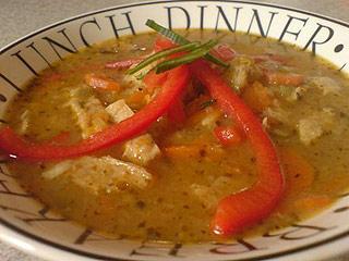 Zupa a`la flaczki sojowe