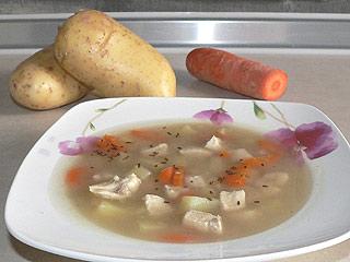 Zupa kminkowa z kurczakiem