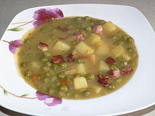 Zupa z groszku konserwowego