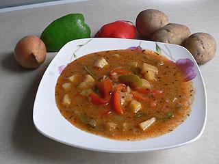 Zupa ziemniaczana z papryką